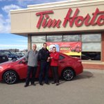 Congrats to Dustin Gould on winning a brand new 2014 Toyota Corolla from the Roll Up the Rim to Win! #yql #TimHortons http://t.co/xnqg3nGR39