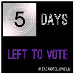Only 5 days left to vote for @LeadFollowFilm on @STORYHIVE Support your local filmmakers! #YVR http://t.co/oYBijZSZhf