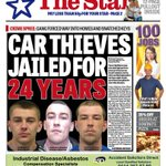Heres the front page of Thursdays @SheffieldStar #Sheffield #SouthYorkshire http://t.co/ca1rc2vH9N