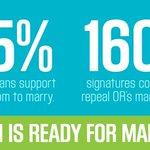 WITHOUT A DOUBT: #Oregon is ready for the freedom to marry! 55% support and 160K+ petitions collected. #OR4M #LGBT http://t.co/9AqocmvfHk
