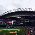 The roof is open at @Mariners Safeco Field... Just like I forecasted!#FirstMarinersGame http://t.co/VmOhMV5nss