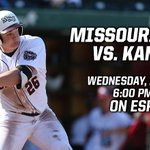 Tonight on @ESPN3: Missouri State will take on Kansas. Gametime at 6 pm CT. #MVCBaseball http://t.co/r5QrStxVkJ http://t.co/cIM35Vp1y7