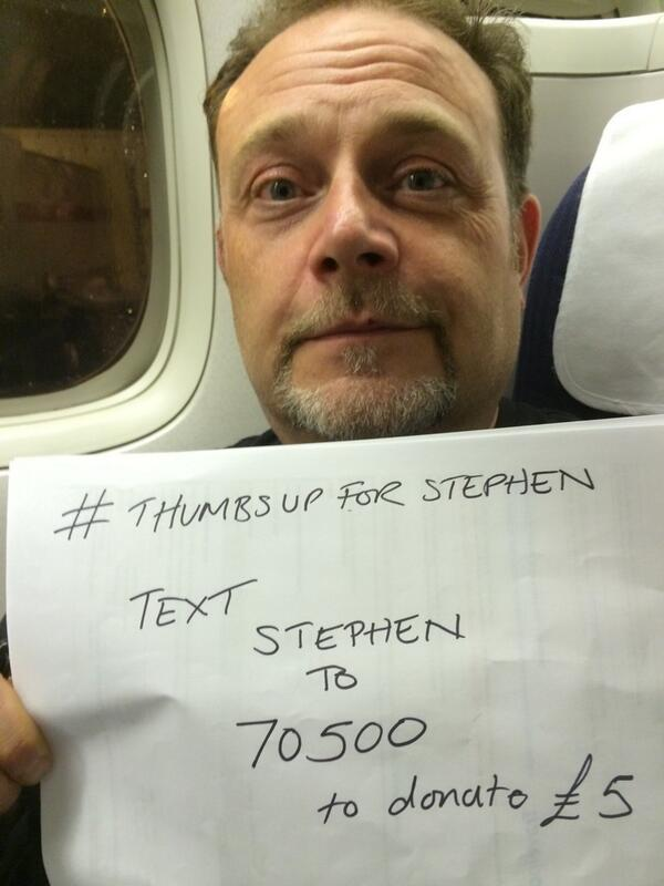 Please text STEPHEN to 70500 to donate £5 thank you. http://t.co/NpXDUqQ6cl