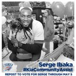 RT @okcthunder: Vote now for Serge Ibaka to win Seasonlong Kia Community Assist Award! Tweet this: Serge Ibaka #KiaCommunityAssist http://t.co/qUSuFDxei9