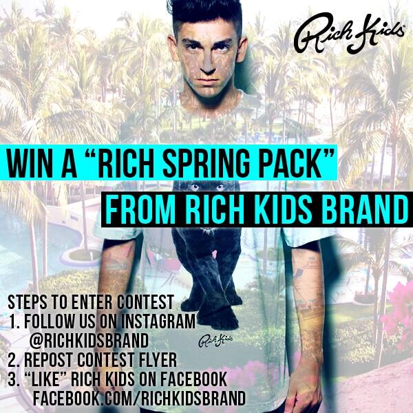 Free clothes alert! RT @RichKidsBrand: We've got a new contest starting here soon! Check our IG at 11 am. http://t.co/WzuVFmecYv