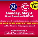 RT @Reds: Support a Cincinnati area high school baseball team & get a deal on Reds tickets for May 4: http://t.co/6zeO2xzWTu http://t.co/xtDaQeqRqf