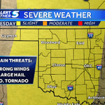 RT @KOCOdamonlane: Oklahoma severe weather update. Risk area includes OKC for this evening. Storms will develop by 4pm west #okwx http://t.co/NobQQgkToX