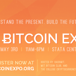 RT @MITBitcoinClub: #MITBitcoinExpo is coming May 3rd: http://t.co/B303ywQhN0 Lineup includes @gavinandresen @psneville @armory @BitPay http://t.co/RwRotDYyyY