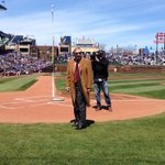 RT @Cubs: The @MLB Commissioner, Bud Selig, joins us for the #WrigleyField100 celebration. http://t.co/ytBsYgO90v