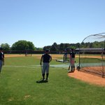 #Wofford baseball taking batting practice before a 3 pm game at Presbyterian College. Beautiful day for baseball. http://t.co/OXObBGwalD