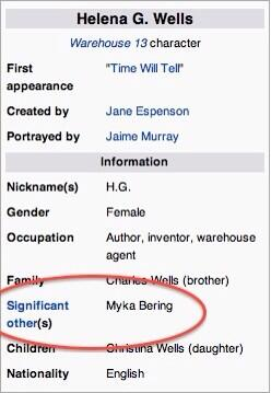 Love this! RT @Bering_Wells Even Wikipedia knows the truth of their relationship. #Warehouse13 #ByeWH13 http://t.co/JcKkOBgFxi