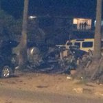 The car bomb that exploded at pangani police station 4 dead. Two police officers two civilians. http://t.co/2FtRf7GqGa