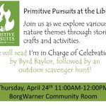 RT @tcplny: Our Primitive Pursuits storytime will be meeting in the BorgWarner Room tomorrow. Join us tomorrow at 11! #twithaca http://t.co/TKtqIQEYCO