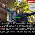 RT @mikeskadanielle: every vote counts! http://t.co/9DSGxJuCAD #Bring22JumpStreet2TXST http://t.co/mWcsZ4KtOw