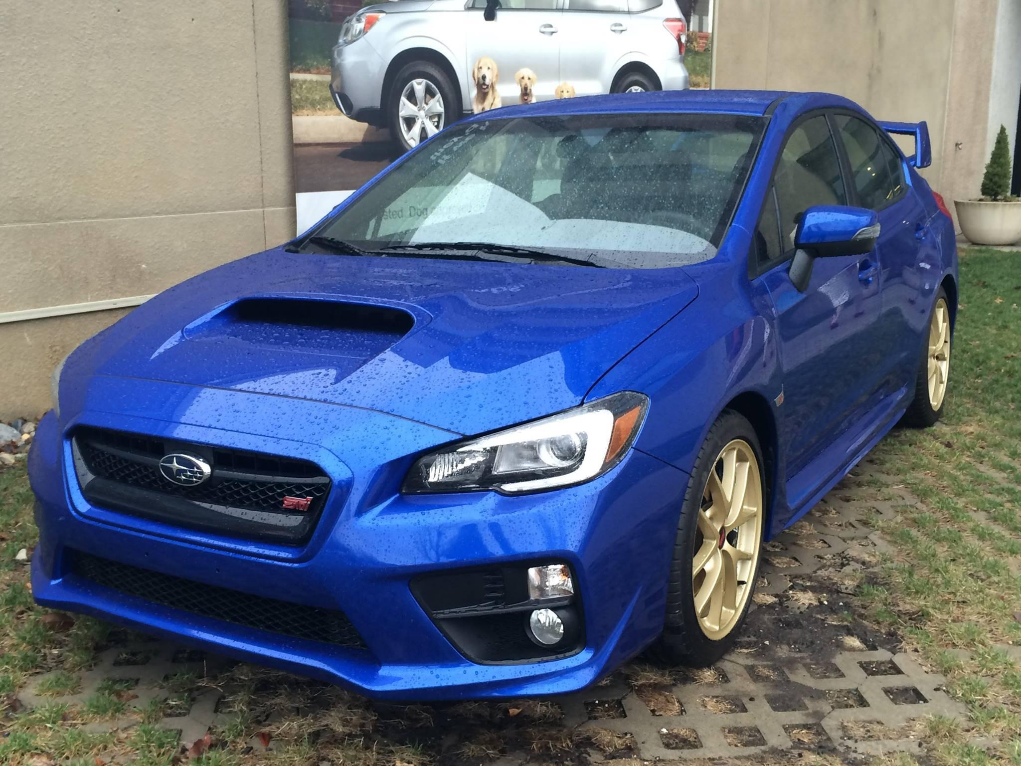 April showers bring May flowers, but they also bring the 2015 WRX STI Launch Edition to our Headquarters. http://t.co/IY6ELP5N1Q