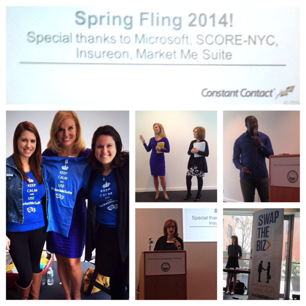 Day2 at @ConstantContact's #SpringFling14! Thanks @wendicc @Shayne_Spencer @SwapTheBiz @TammyKFennell @SusanSolovic http://t.co/AilzEk3FYI
