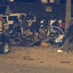 More pix from pangani police station blast. Car almost vaporized. http://t.co/dqhsn3n26G
