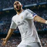 SYM RT @realmadriden: 32' Karim Benzema celebrating his 36th Champions League goal. #RealMadridBayern #RMLive http://t.co/VIvfcrgDjT