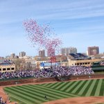 HAPPY 100th BIRTHDAY, WRIGLEY FIELD! {MT @Cubs Lets sing Happy Birthday! Happy Birthday to you, #WrigleyField100! http://t.co/n953CZzlu6