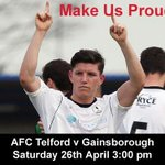 RT @telfordutd: @seanclancy7 make us proud on Saturday #Believe #OnceIn62yrs http://t.co/YMRc4y1Y5v