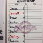 Tonights #Brewers lineup vs. San Diego at Miller Park. First pitch 7:10 CT on @fswisconsin and @620wtmj. http://t.co/eHVD6Fhf6E