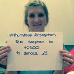 What an incredibly brave man. Please donate! @_StephensStory #ThumbsUpForStephen http://t.co/kjd11hFagH