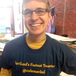 Happy bday to Portlands faster #Tweeter #PDX & Street Roots vendor coordinator @colemerkel We love you! http://t.co/3FeNWJEOa2