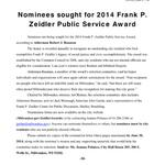 Nominations sought for the Frank P. Zeidler Public Service Awards. #Milwaukee @MKE_CC http://t.co/yNDCymI7vv
