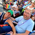 Lovely pic of Ian Reid, Paul Degenstein at Pride Parade 2013. A true honour to have know Ian @nowgroup #Vancouver http://t.co/Zt9efLeU9M
