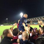 RT @gfarr92: : @Essex_Chronicle Hawkes celebrates with the fans @OfficialClarets #NonLeague #SkrillSouth WE ARE STAYING UP!!!!! http://t.co/wcRp3zbDhw