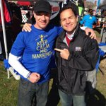 Made a new friend in Richmond VA reporter @GregMcQuadeCBS6 interviewing me on @SupahFans Spirit for #BostonMarathon http://t.co/BFUdMhs8Cx