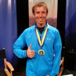 #BostonMarathon runner, @NickArciniaga, showing off his medal! Hear the story at 6pm @naztoday #flagstaff http://t.co/rkLBxFllrM