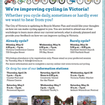 RT @GVCC: On your bike, or want to be? Be seen, be heard @CityOfVictoria Bike Plan. 6 info sessions, 3 workshops #yyjbike #yyj http://t.co/0XzR62kdUm