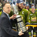 RT @OHLHockey: Heres @OHLBattalion captain @bgoodrow23 accepting the Bobby Orr Trophy #OHLPlayoffs #Rogers East Final Champs http://t.co/qyJRbeKn32