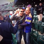 Unbelievable lunch break capped by 3PTs @toddyoshio catching Kyle Seagers walk-off homer at the #Mariners game! http://t.co/Fj4aFOdkjl