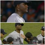 Yankees' Michael Pineda ejected for having pine tar on his neck. http://t.co/wgBPUOWbIC