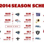 RT @49ers: The #49ers 2014 schedule is here... #ComeToPlay VIEW: http://t.co/85DX3kIqPu http://t.co/ZQdvCBvGqR