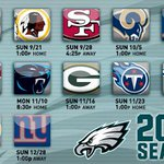 RT @Eagles: Here it is, the Philadelphia #Eagles 2014 regular season schedule: http://t.co/MBYiWNa9vl http://t.co/GHH2oBdm1M