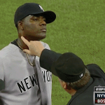 RT @SBNation: An ump tickled Michael Pineda's neck and decided it has pine tar on it. That's an ejection: http://t.co/ryIkHvg4U2 http://t.co/XZzxd6Lbh4