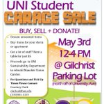 The UNI Garage Sale is coming up fast! Come out to the Gilchrist May 3, from 12-4! http://t.co/gM1MT5b98Q