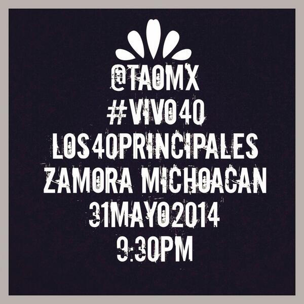 Estaremos #Bailando en #ZamoraMichoacan con #los40principales en un #vivo40 con @dopaminamx y @Jaryoficial http://t.co/peyYvQZWCh