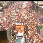 Varanasi: Crowd at Narendra Modis road show http://t.co/l9FMgQHQuo