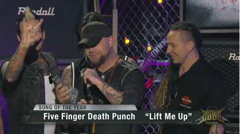 Hell Yeah!  'Lift Me Up' wins Best Song of the Year at @Revolvermag #GoldenGods ! THANK YOU and Thank @robhalford ! http://t.co/x6wAGVbyCc