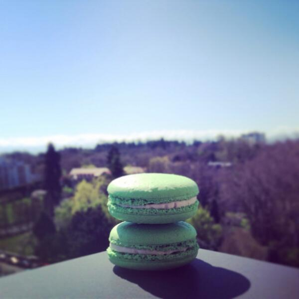 The weather is gorgeous and what better way to celebrate than to pick up a box of macarons to enjoy in the sun! #yyj http://t.co/FmOmv1hDT9