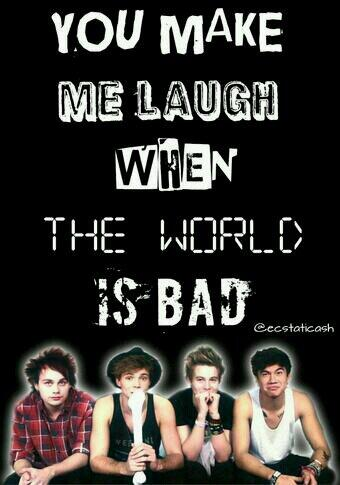Thank you 5SOS for making me laugh when the world is bad #5sosfampizzafollowparty http://t.co/3JzBVC5qBo