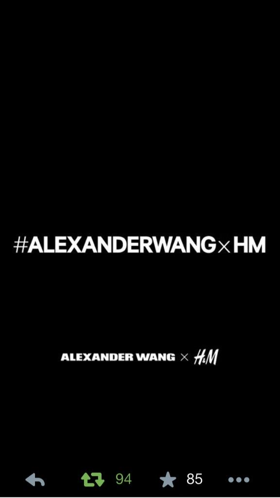 The secret is out! @AlexanderWangNY #ALEXANDERWANGxHM http://t.co/aUcv92opVb
