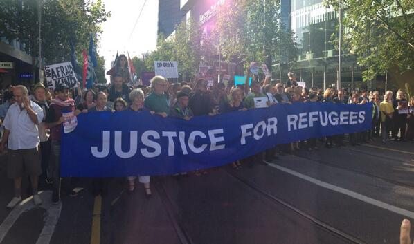 Massive turnout today in Melbourne for #justice4refugees rally. Plenty of good hearts in Australia. http://t.co/JqKGS3xNN3