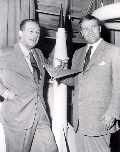 Walt Disney and @DisneyPictures execs visit @NASA_Marshall #OTD in 1954.   http://t.co/nzMVbMJ3rr