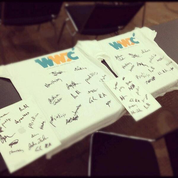 Who's ready to own a piece of history? We'll be auctioning off a signed #WWJC shirt to benefit @becauseofezra