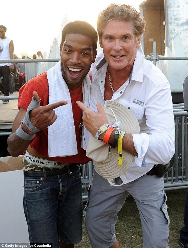 The Hoff and the kid Cudi! First time meeting and now fan of his music! @ducidni @coachella http://t.co/j3TFwaG2sL